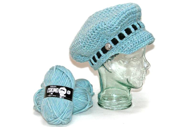 heklet-cap-eskimo-garn-happyknitting